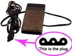 Sew-link Power Cord for Janome MC6600 MC8000 MC7700QCP MC6600P